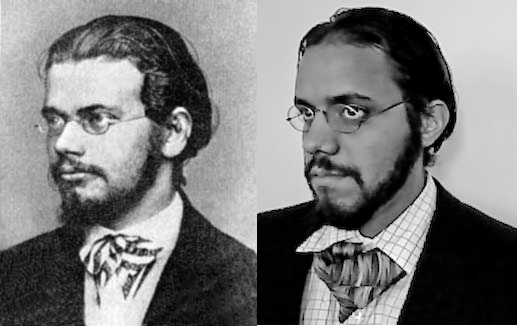 Young Boltzmann and me (No Photoshop)